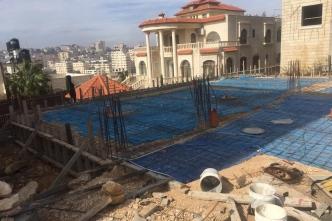 اعمال بناء مقر الاتحاد في بيتونيا/ رام الله