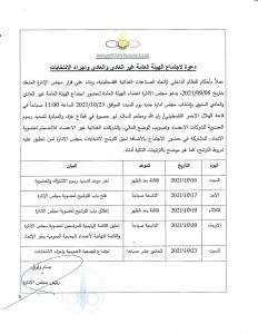 دعوة إجتماع الهيئة العامة غير العادي والعادي وإجراء الإنتخابات